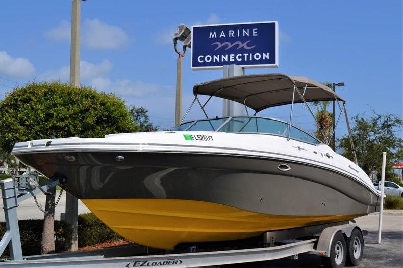 Thumbnail 1 for Used 2014 Hurricane SunDeck SD 2690 OB boat for sale in Vero Beach, FL